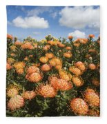 Protea Blossoms Fleece Blanket