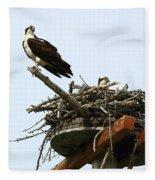 Protecting The Nest Fleece Blanket