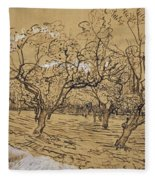 Provencal Orchard Arles  March - April 1888 Vincent Van Gogh 1853  1890 Fleece Blanket