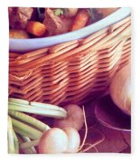 Provence Kitchen Shallots Fleece Blanket