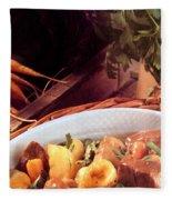 Provence Kitchen Stew Fleece Blanket