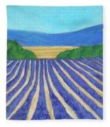 Provence Lavender Field Fleece Blanket