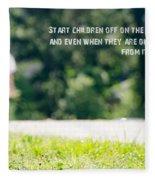 Proverbs 22 6 Fleece Blanket
