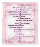 Proverbs 31 Acrostic Fleece Blanket