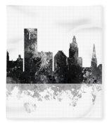 Providence Rhode Island Skyline Fleece Blanket