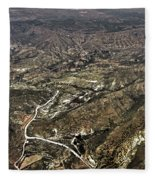 Province Of Alicante Fleece Blanket