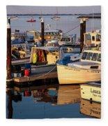 Provincetown Fishing Boats, Ptown, Ma Fleece Blanket