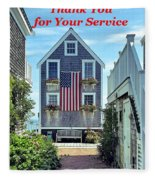 Provincetown Patriot By Sharon Eng Fleece Blanket