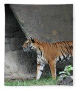 Prowling Tiger Fleece Blanket