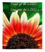 Psalm 149 1 Fleece Blanket