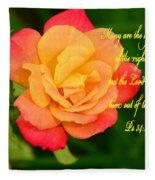 Psalm 34 V 19 Fleece Blanket