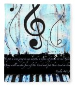Psalm 40/3 Blue Fleece Blanket
