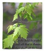 Psalm 96 12 Be Joyful Fleece Blanket