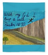 Art Therapy For Your Wall Psalm Art Fleece Blanket