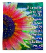 Psalms 92 1 2 Fleece Blanket