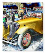 Psychedelic 1930 Jaguar Ss1 At London Classic Car Show 2015 Fleece Blanket