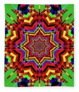Psychedelic Construct Fleece Blanket