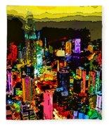 Psychedelic  Dubai Art Fleece Blanket