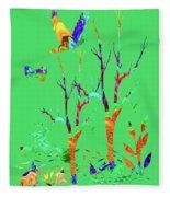 Psychedelic Forest Fleece Blanket