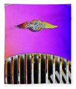 Psychedelic Morgan 4/4 Badge And Radiator Fleece Blanket