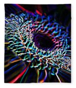 Psychedelic Neon Fleece Blanket