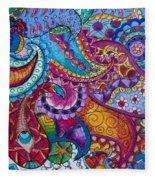 Psychedelic Paisley Fleece Blanket