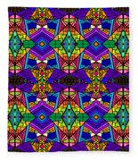 Psychedelic Pattern Blue Fleece Blanket