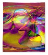Psychedelic Sun Fleece Blanket