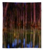 Psychedelic Swamp Trees Fleece Blanket