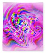 Psychedelic Swirls On Lollypop Pink Fleece Blanket