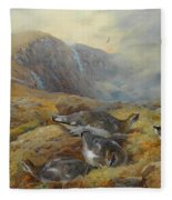 Ptarmigan Danger Aloft By Thorburn Fleece Blanket