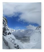 Ptarmigan Pass Tunnel North - Glacier National Park Fleece Blanket