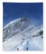 Ptarmigan Pass Tunnel South - Glacier National Park Fleece Blanket