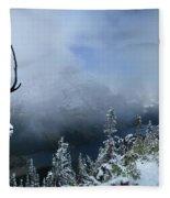 Ptarmigan Trail Overlooking Elizabeth Lake 2 - Glacier National Park Fleece Blanket