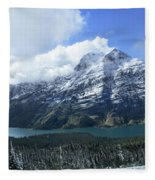 Ptarmigan Trail Overlooking Elizabeth Lake 5 - Glacier National Park Fleece Blanket