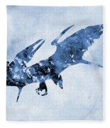 Pterodactyl-blue Fleece Blanket