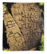 Puako Petroglyphs Fleece Blanket