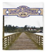 Public Fishing Pier Fleece Blanket