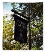 Public Garden 1837 Boston Fleece Blanket