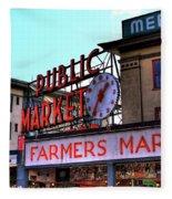 Public Market II Fleece Blanket
