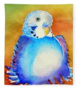 Pudgy Budgie Fleece Blanket