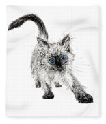 Pudsquiz Belina On The Prowl  Fleece Blanket