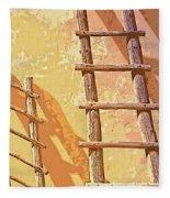 Pueblo Ladders Fleece Blanket