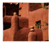 Pueblo Revival Style Architecture II Fleece Blanket