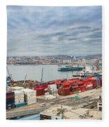 Puerto De Valparaiso Fleece Blanket