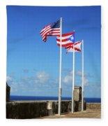 Puerto Rican Flags Fleece Blanket