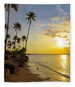 Puerto Rico Sunset Fleece Blanket