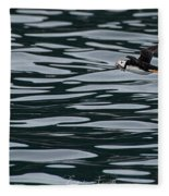 Puffin With Dinner Fleece Blanket