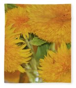 Puffy Golden Delight Fleece Blanket