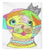 Pug  Fleece Blanket